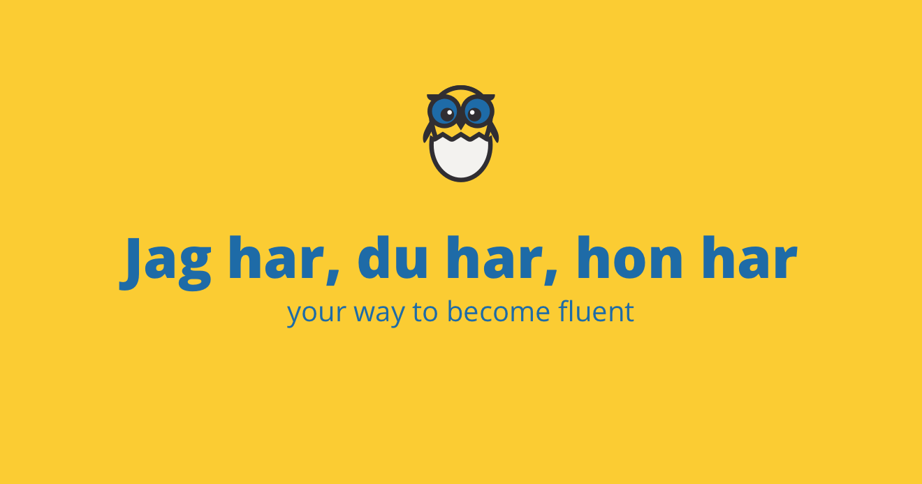Lesson 6 | Present tense in Swedish
